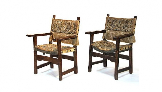 18th Century Spanish Baroque Walnut Armchairs