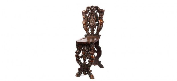 19th Century Italian Renaissance-Style Hall Chairs