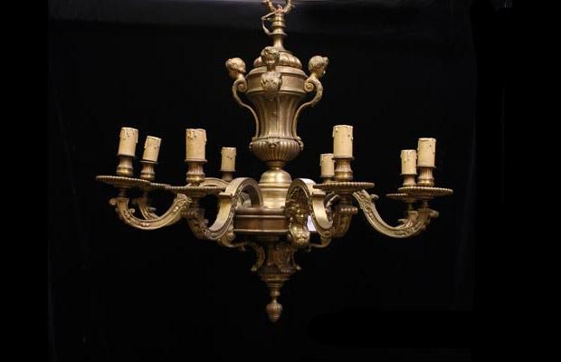 Antique Regence Bronze Chandelier - 19 Century Finely Made Antique Regence Bronze Chandelier The