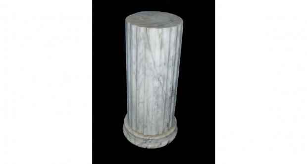 Carrara Marble Pedestal