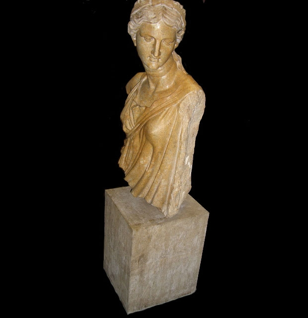 Finely Carved Marble Bust of a Woman