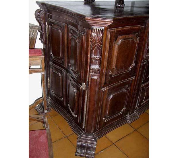 Portuguese Baroque Style Jacaranda Credenza