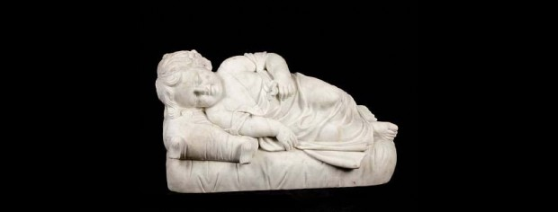 Marble Figure of a Sleeping Baby
