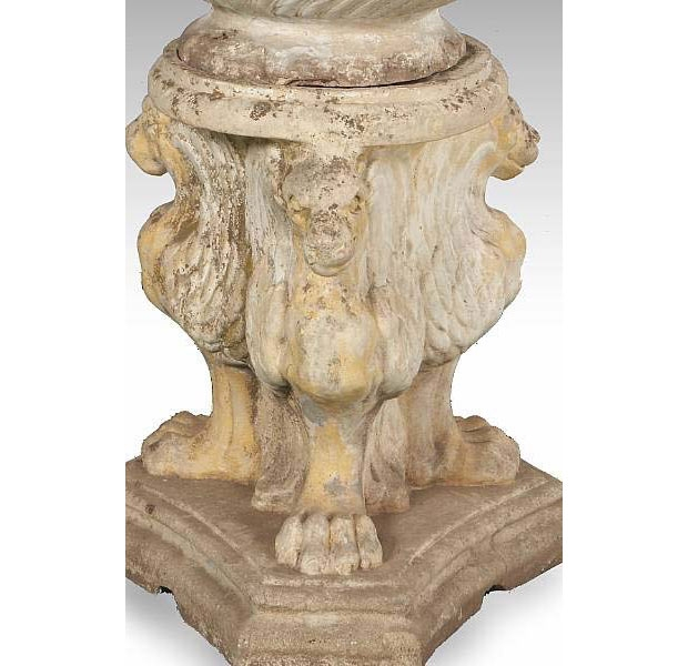 Neoclassical Style Stone Jardiniere on Pedestal