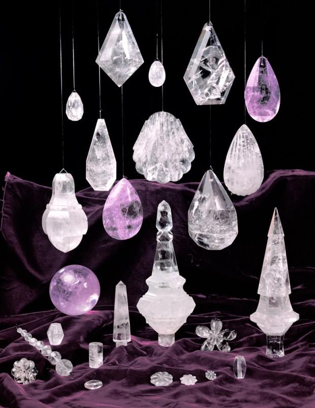 Rock Crystal Amethyst Prisms
