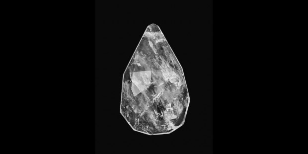 Rock Crystal Faceted Half Pear