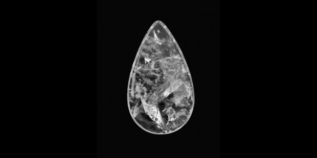 Rock Crystal Smooth Half Pear