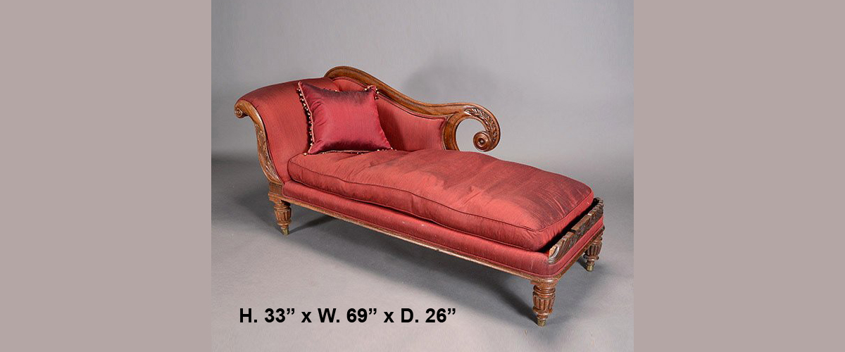 Furniture the world of design for Burgundy chaise lounge