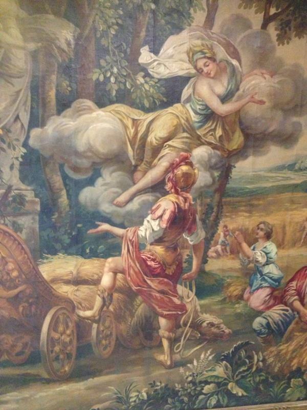 Large Poucher manner oil on canvas Allegorical Scene (3)