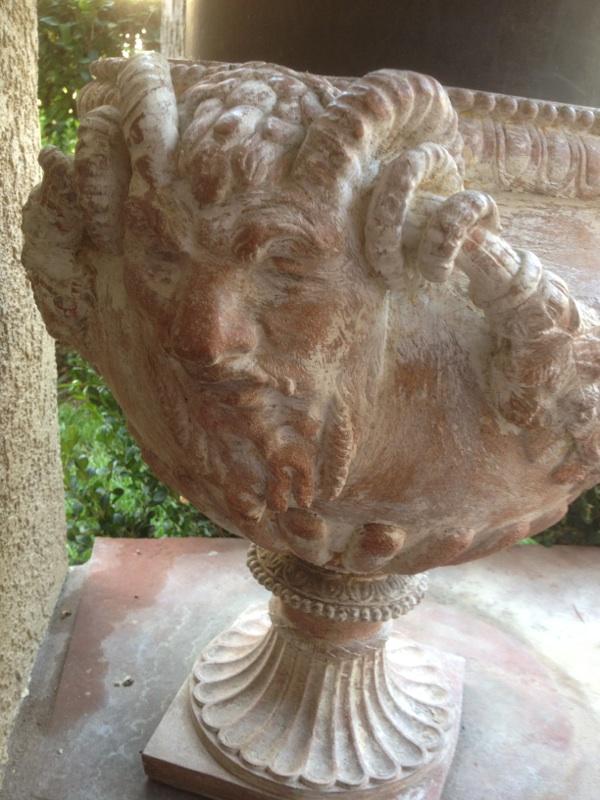 Pair L19 E20 Italian Neoclassical Terracotta Garden Urns (1)