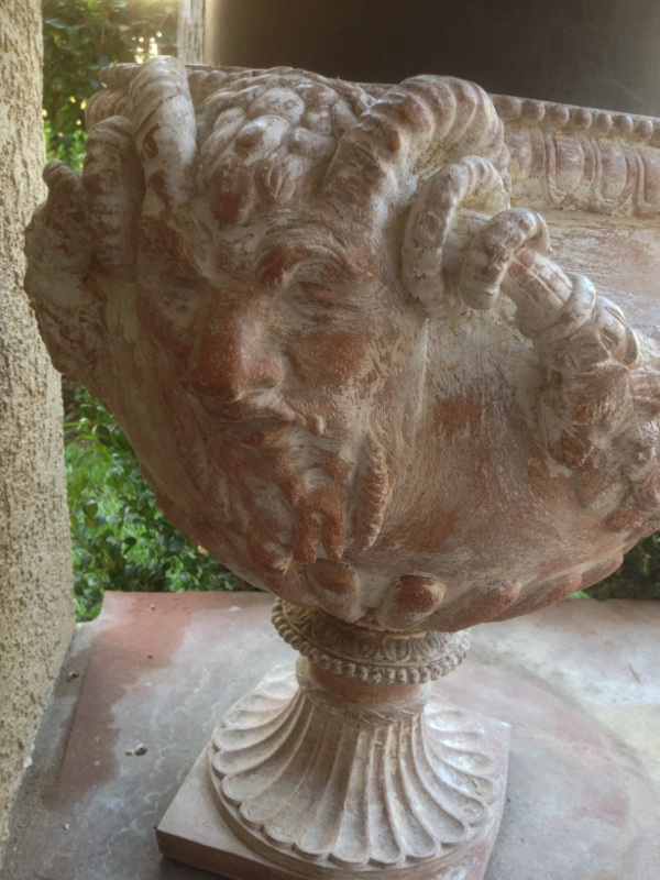 Pair L19 E20 Italian Neoclassical Terracotta Garden Urns (2)