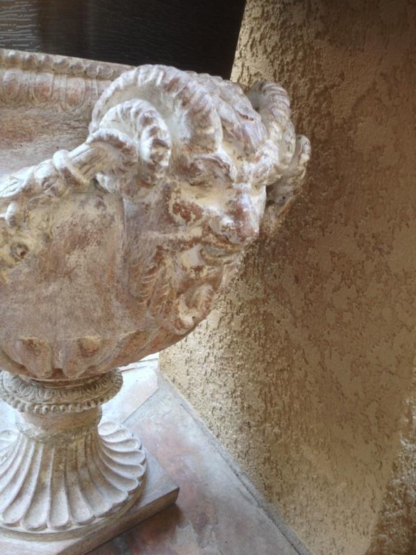 Pair L19 E20 Italian Neoclassical Terracotta Garden Urns (5)