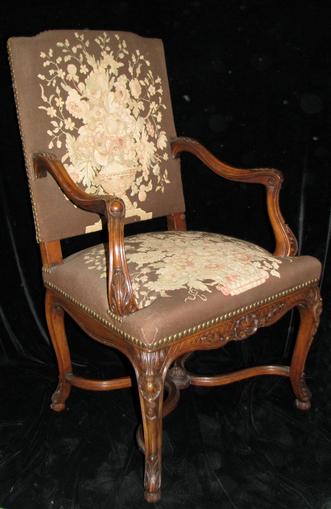 Dch 07 set of 12 19 century french louis xv style carved for Styles of upholstered chairs