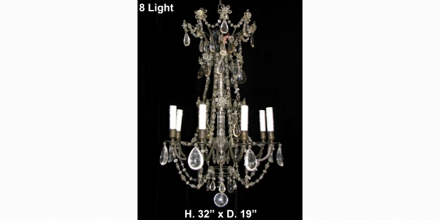 Ch01 fine antique french rock crystal smokey rock crystal and cut ch01 antique rock smokey rock and lead crystal 8l chandelier aloadofball Choice Image