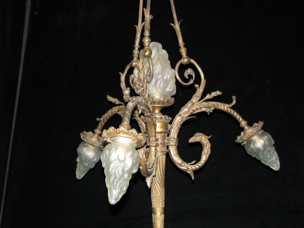 Progress Lighting Riverside Collection 4 Light Heirloom: CH15 19 Century Louis XVI Style Gilt Bronze 4 Light