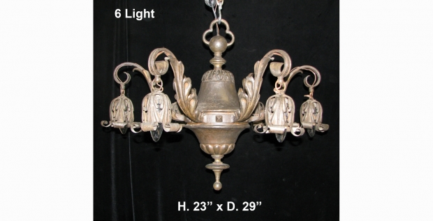 Ch43 antique spanish hand forged wrought iron chandelier with 6 ch43 antique spanish hand forged wrought iron chandelier with 6 hangiing lights aloadofball Gallery