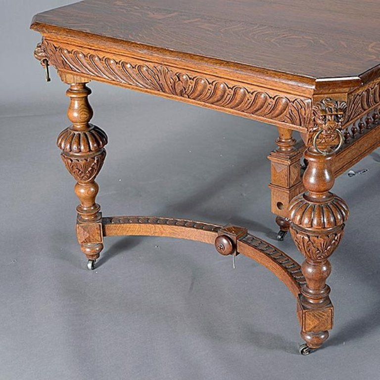 DT 02 19 Century French Renaissance Style Carved Oak