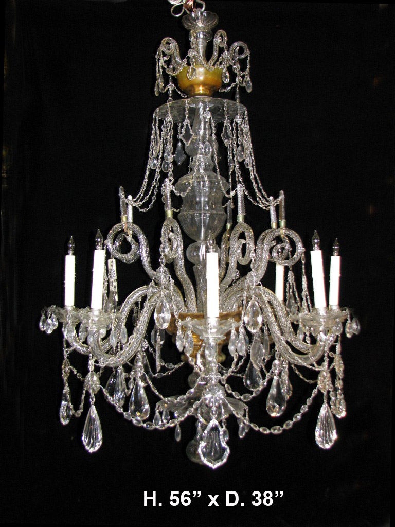 Ch100 impressive 19c english george iii style finely cut crystal 8 impressive arubaitofo Image collections