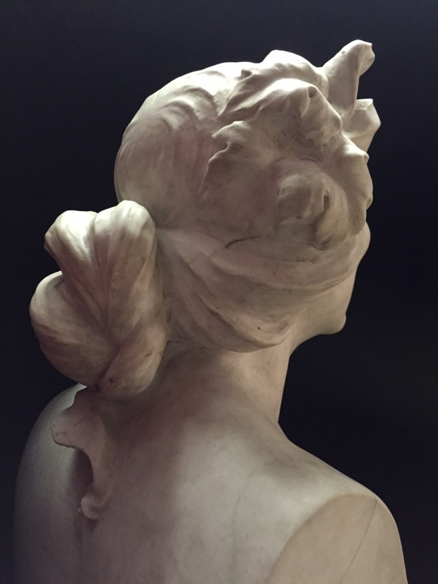 Pair Impressive Signed Italian Marble Herms Satyr and Bacchante (19)