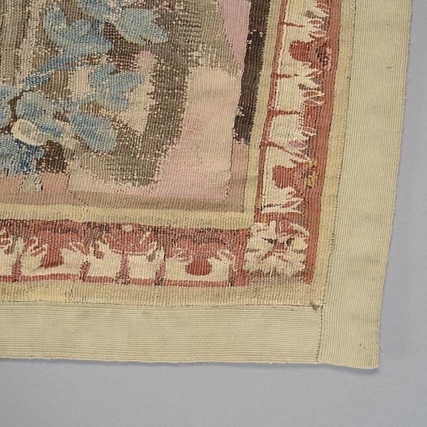 TAP-0732    19 C. Flemish Verdure Tapestry depicting castle garden with coat of arms (3)