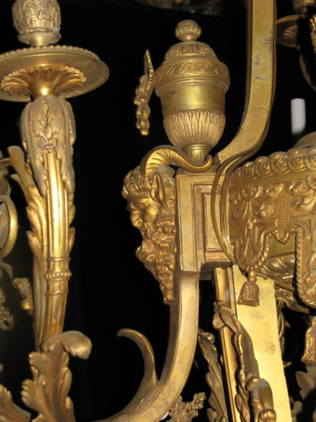 Exceptional 19c French bronze figural 39 light chandelier (11)