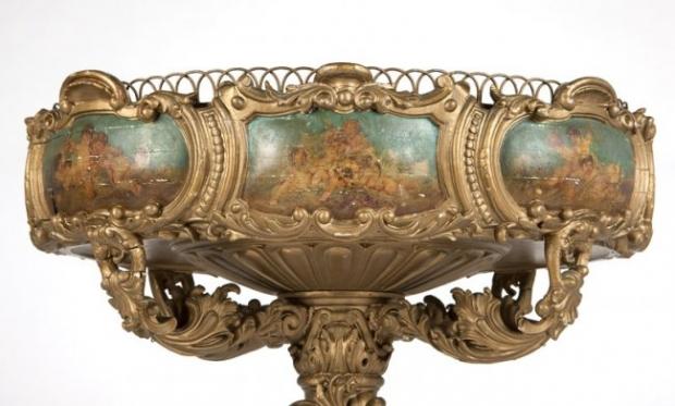 19c Italian Baroque-style painted  jardiniere (1)