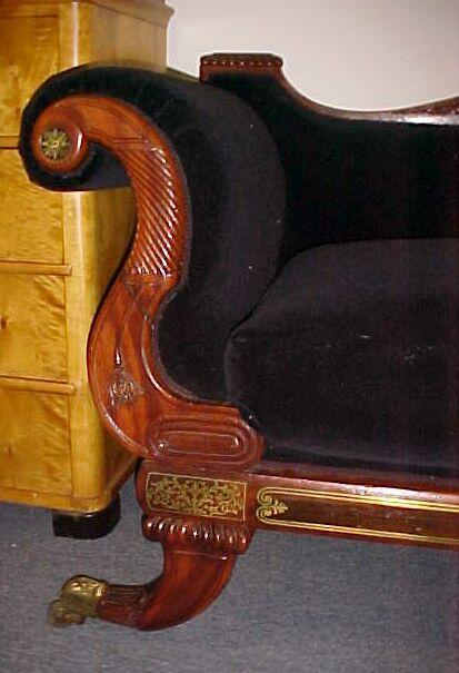 Regency Brass Inlaid Sofa (2)