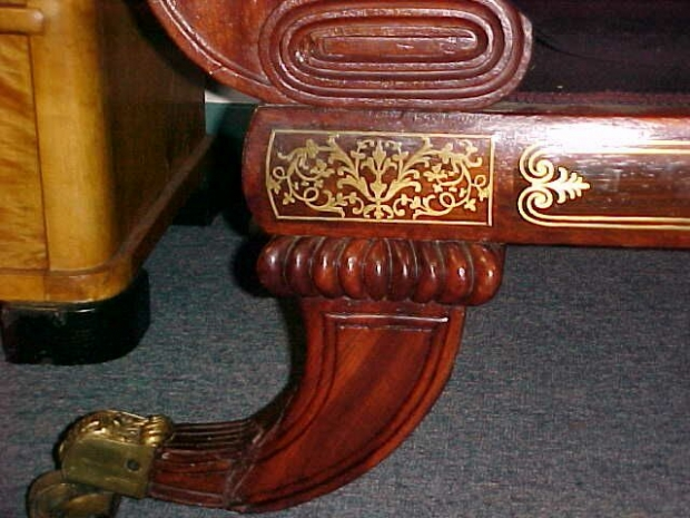 Regency Brass Inlaid Sofa (3)