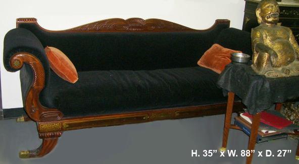 Regency Brass Inlaid Sofa