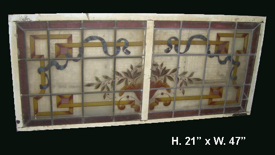 Leaded Glass Panel D Small