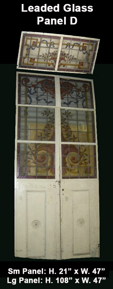 Leaded Glass Panel D Together