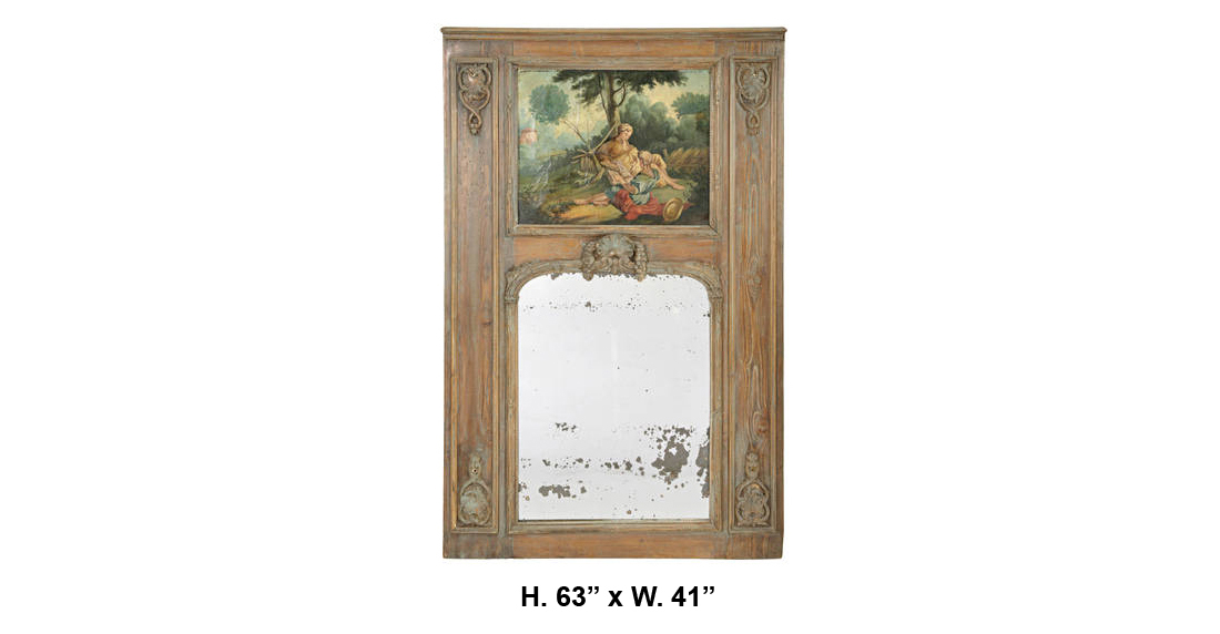 18 century french louis xv style carved wood paint decorated trumeau mirror the world of design - Wood exterior paint collection ...