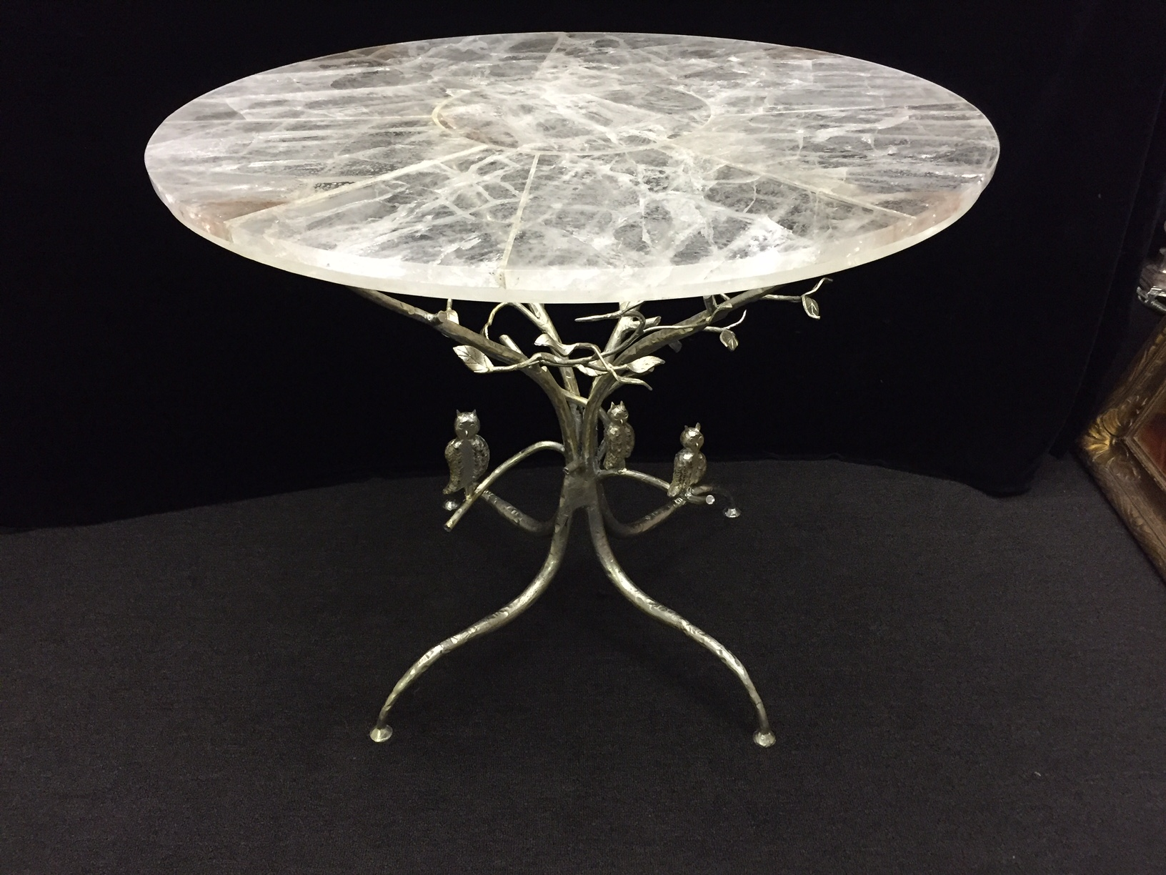 Elegant One Of A Kind Rock Crystal Table With