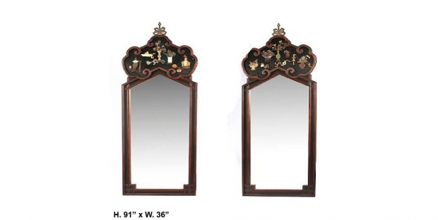 pair-19c-chinese-carved-hardwood-black-lacquered-and-hardstone-decorated-mirrors