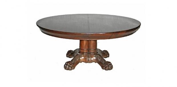 Renaissance-Style Mahogany Extension Dining Table