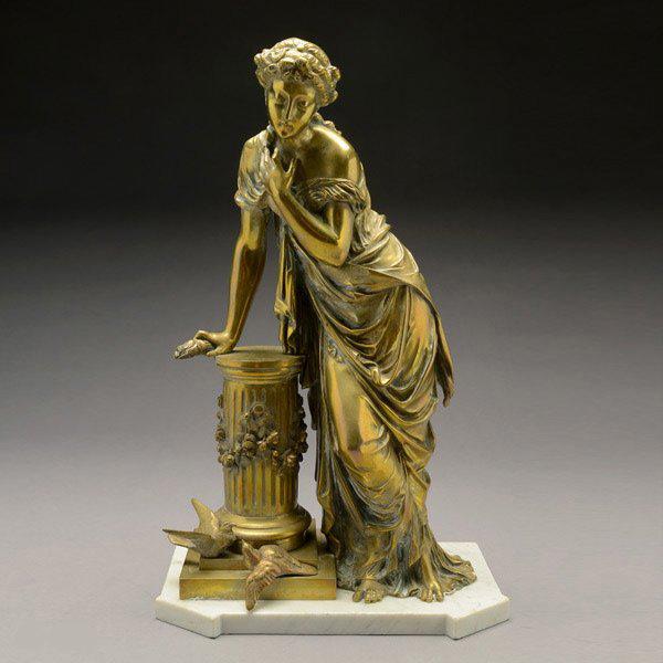 French Gilt Bronze Figure of Venus copy
