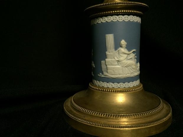 18c George III cut crystal and jasper ware candelabra (4)