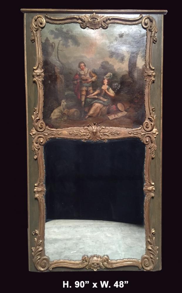 fine-19c-french-louis-xvi-style-parcial-gilt-trumeau-mirror
